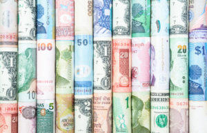 Fiat currencies from multiple countries.