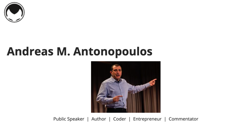 Andreas Antonopoulos Crypto Educator and public speaker